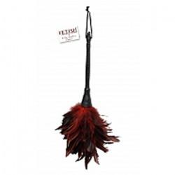 Piórko do łaskotania czarno-czerwone - 36 cm