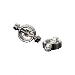 Ekskluzywne magnetyczne zaciski na sutki w kolorze srebrnym