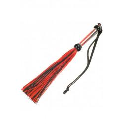 Sylikonowy pejczyk czarno-czerwony - 27 cm