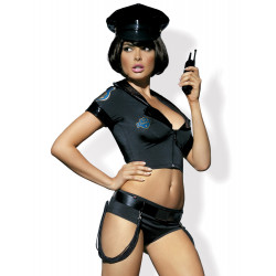 Kostium seksowna policjantka 6-cześciowy - S/M
