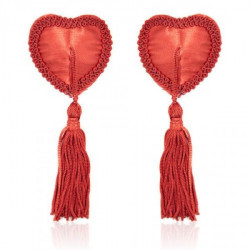 Czerwone nasutniki w kształcie serca z frędzelkami