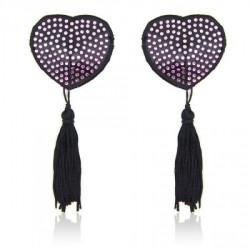 Nasutniki w kształcie serca z diamencikami i frędzelkami