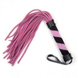 Pejczyk skórzany Line Whip pink - 27 cm