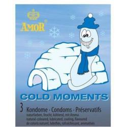 Prezerwatywy Amor COLD MOMENTS - 3 szt.