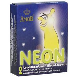 Prezerwatywy świecące w ciemności Amor NEON - 2 szt.