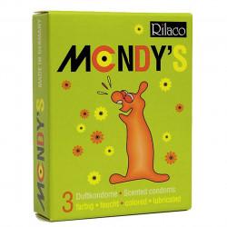 Prezerwatywy smakowe Rilaco MONDYS - 3 szt.