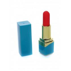 Mocny wibratorek w kształcie szminki - NIEBIESKI