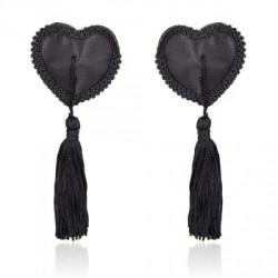 Czarne nasutniki w kształcie serca z frędzelkami