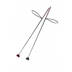 Szpicruta z włókna szklanego z serduszkiem - 80 cm