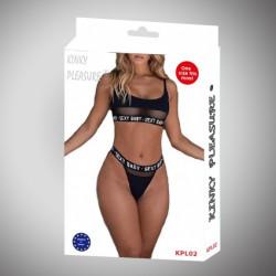 Kinky Pleasure - Sexy Lingerie - large - black KPL02