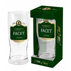 Elite Club - szklanka do piwa 500 ml - Prawdziwy facet