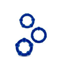 Zestaw-STAY HARD BEADED COCKRINGS BLUE